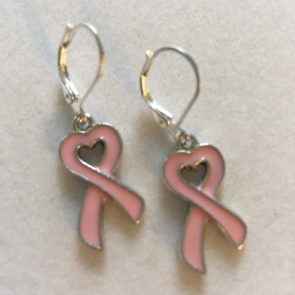 Pink Breast Cancer Awareness earrings, NWT